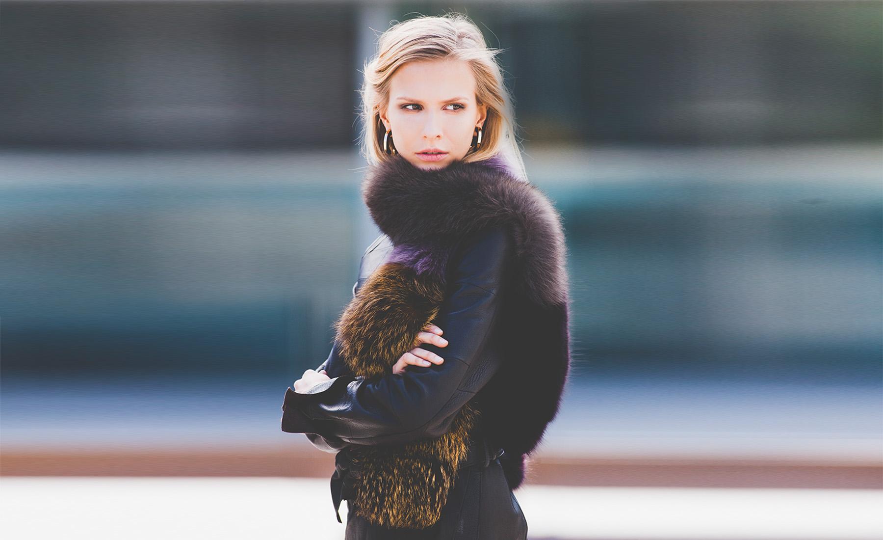 Bonnie hochwertige pelz strick und leder m ntel for Exklusive modekataloge